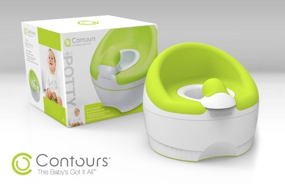 Fuzion's design for Contour's 3-in-1 Potty & Package Design Concept